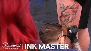 Freehanded Freestyle - Adaptability: Face Off Tattoo | Ink Master: Shop Wars (Season 9)