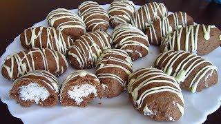 Шоколадное Печенье с Кокосом/Chocolate Cookies with Coconut