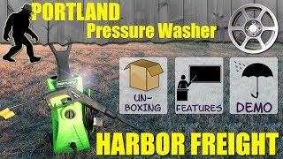 Portland Pressure Washer from Harbor Freight - Review - 1750 PSI - 63254/63255