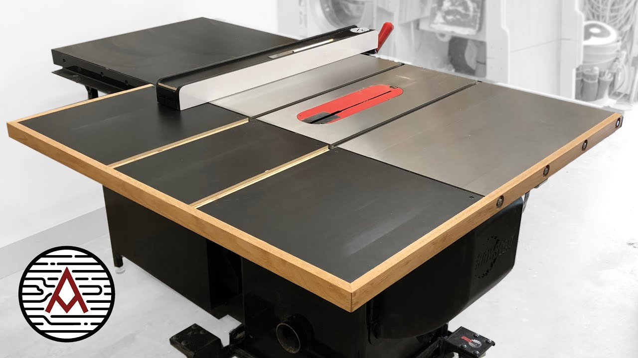 out-feed table for a sawstop cabinet saw -- woodworking/ shop project