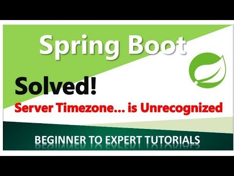 How To Solve Time Zone Value Is Unrecognized In Springboot Jpa
