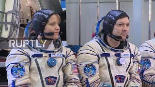 Russia: ISS Expedition 56/57 crews hold pre-flight training session