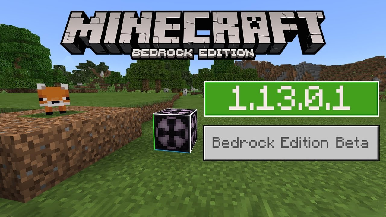 Video - 1 13 0 1 BETA Out Now on Minecraft BEDROCK! FOXES