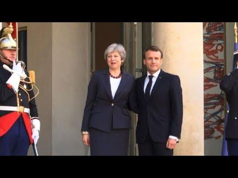 Macron hosts May ahead of EU summit on Brexit