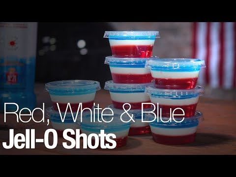 These red, white, and blue Jell-O shots are the perfect addition to any 4th of July party