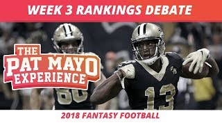 2018 Fantasy Football — Week 3 Rankings, Starts, Sits, Sleepers and Busts