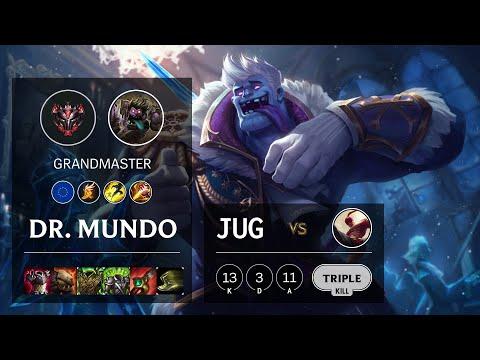 Dr. Mundo Jungle vs Lee Sin - EUW Grandmaster Patch 10.14