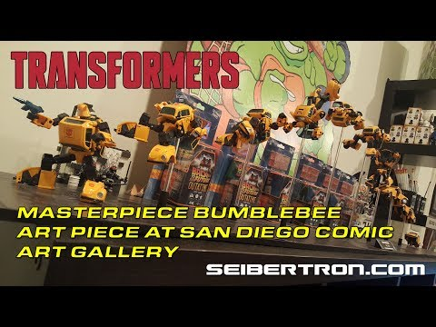 Masterpiece Bumblebee transforming display at IDW's San Diego Comic Art Gallery