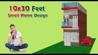 10x30 Feet Area Small Space Modern Home design.