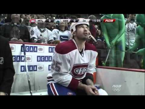 Green Men : Vancouver Canucks v Montreal Canadiens : March 10 2012