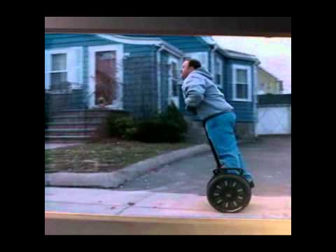 Paul Blart Mall Cop Segway Scene With Funny Walk Youtube