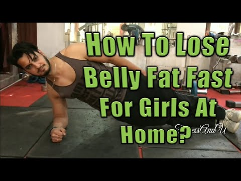 How To Lose Belly Fat Fast For Girls At Home? (Beginners)||Hindi-English||