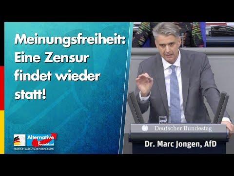 Meinungsfreiheit: Eine Zensur findet wieder statt! - Marc Jongen - AfD-Fraktion im Bundestag