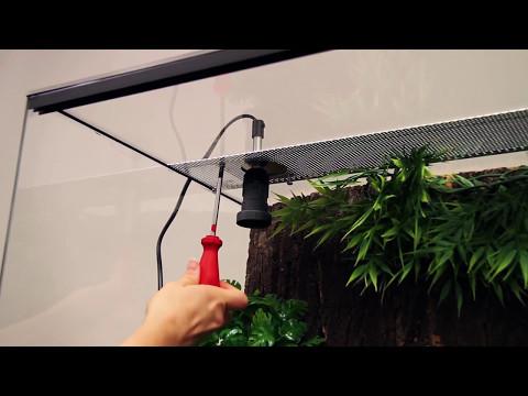 Einbau Und Funktion Einer Lampenhalterung Im Terrarium JBL TempSet Basic