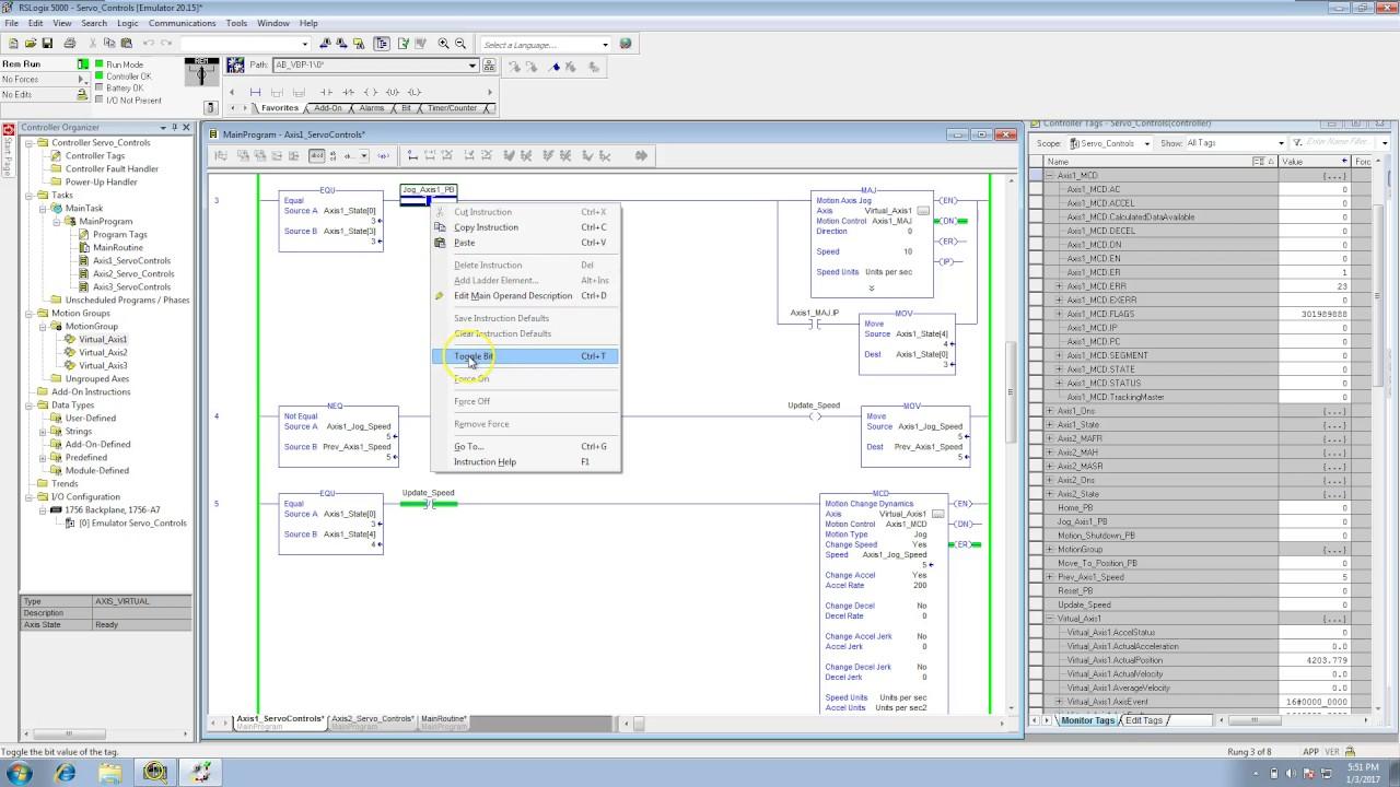 Servo Controls with RSLogix 5000 | Online PLC Support