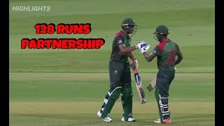 BAN VS AFG || 128 Runs Partnership || I Kayes & Mahmudullah || Highlights