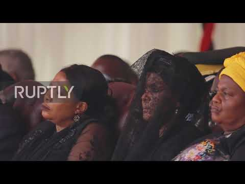 Zimbabwe: African leaders attend Mugabe's state funeral in half-empty stadium