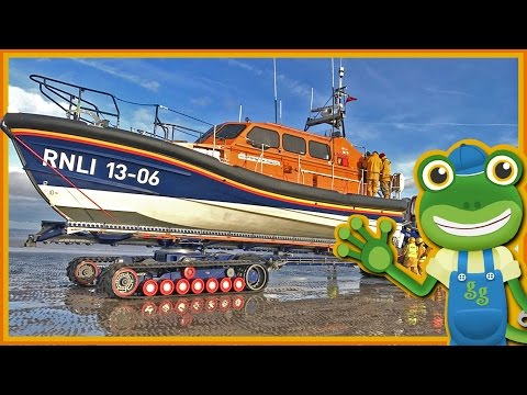 Lifeboats For Children | Gecko's Real Vehicles