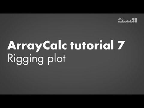 ArrayCalc tutorial 7 Rigging Plot