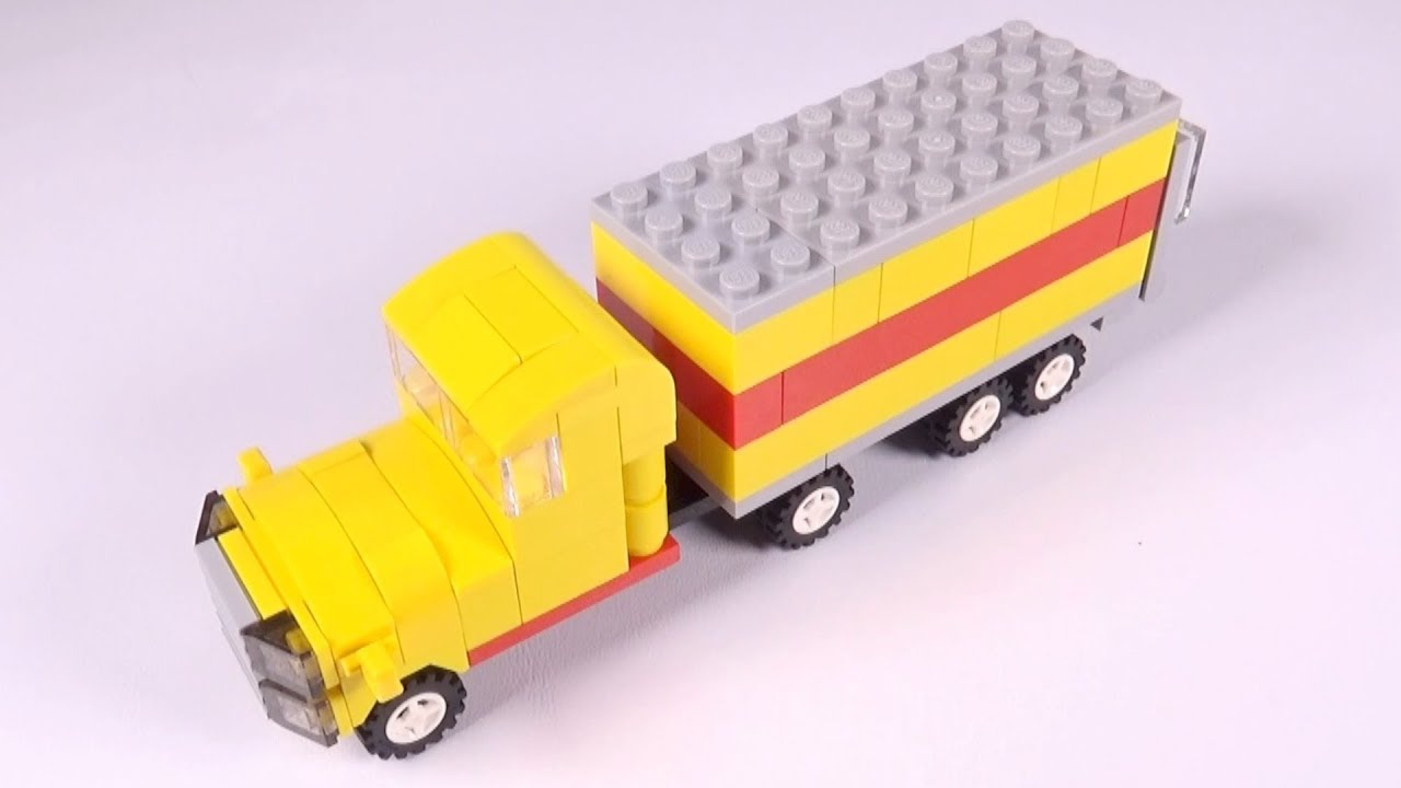 how to build a lego truck instructions