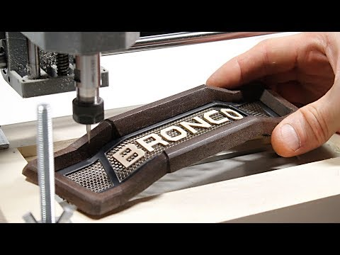 Carving the Grille from Wood with CNC Milling Machine - 2020 Bronco concept 1/6 - Part 8