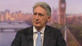 Philip Hammond announces his resignation live on Andrew Marr Show