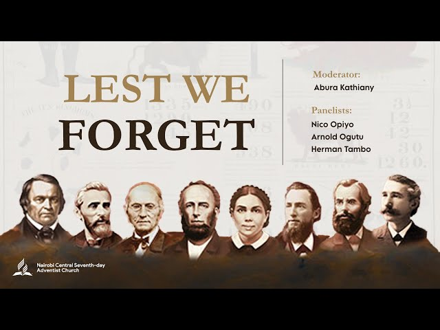 Lest We Forget   Panel Discussion