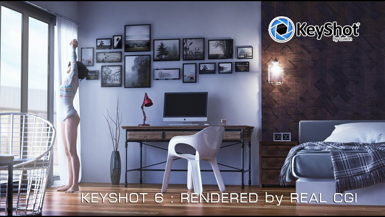 Keyshot 6 Interior Scene Shot Test Environment Lights