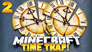 "Minecraft - ""THE FIGHT"" TIME TRAP SURVIVAL! #2/2 w/Preston, Vikkstar & Woofless"