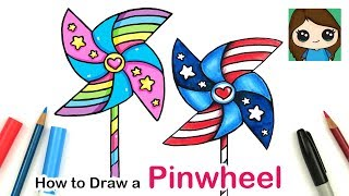 How to Draw a Pinwheel Easy