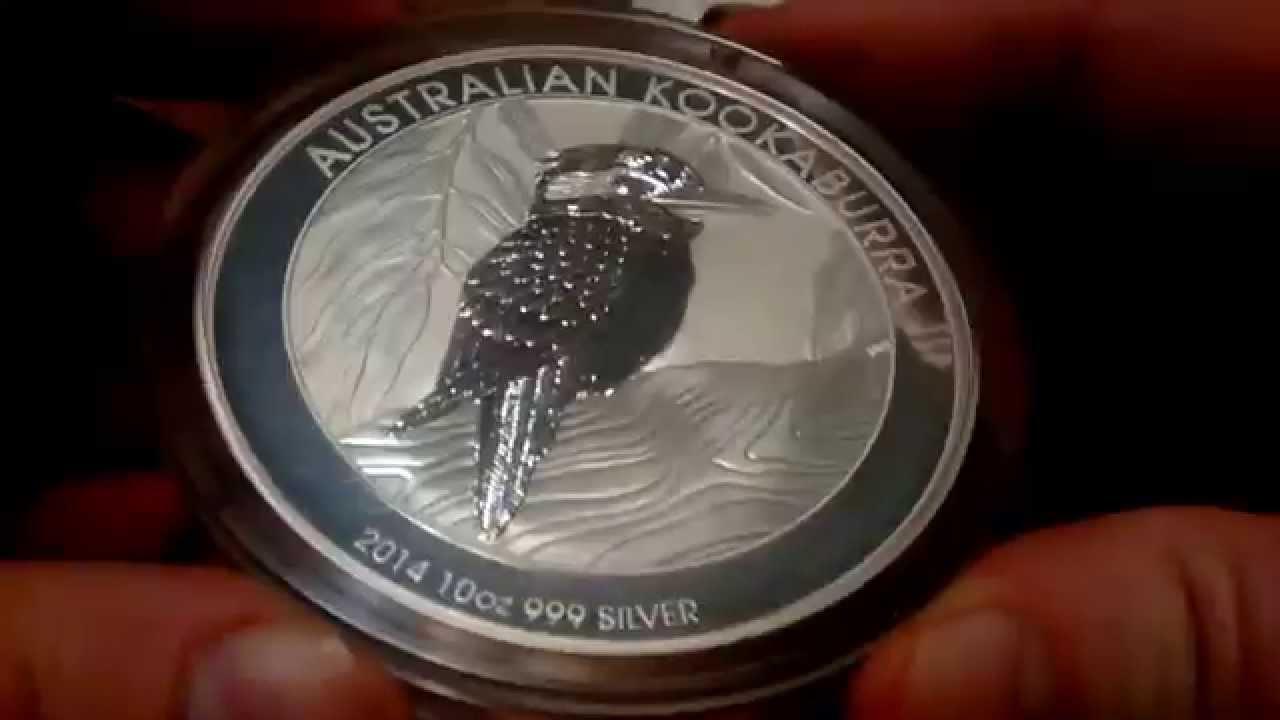 2014 Australian Kookaburra 10 Oz Silver Coin Youtube