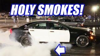 RIPPING Uncle Sam At The Track! Will It Run 9s?? Project 9sec Caprice Cop Car Ep 13!