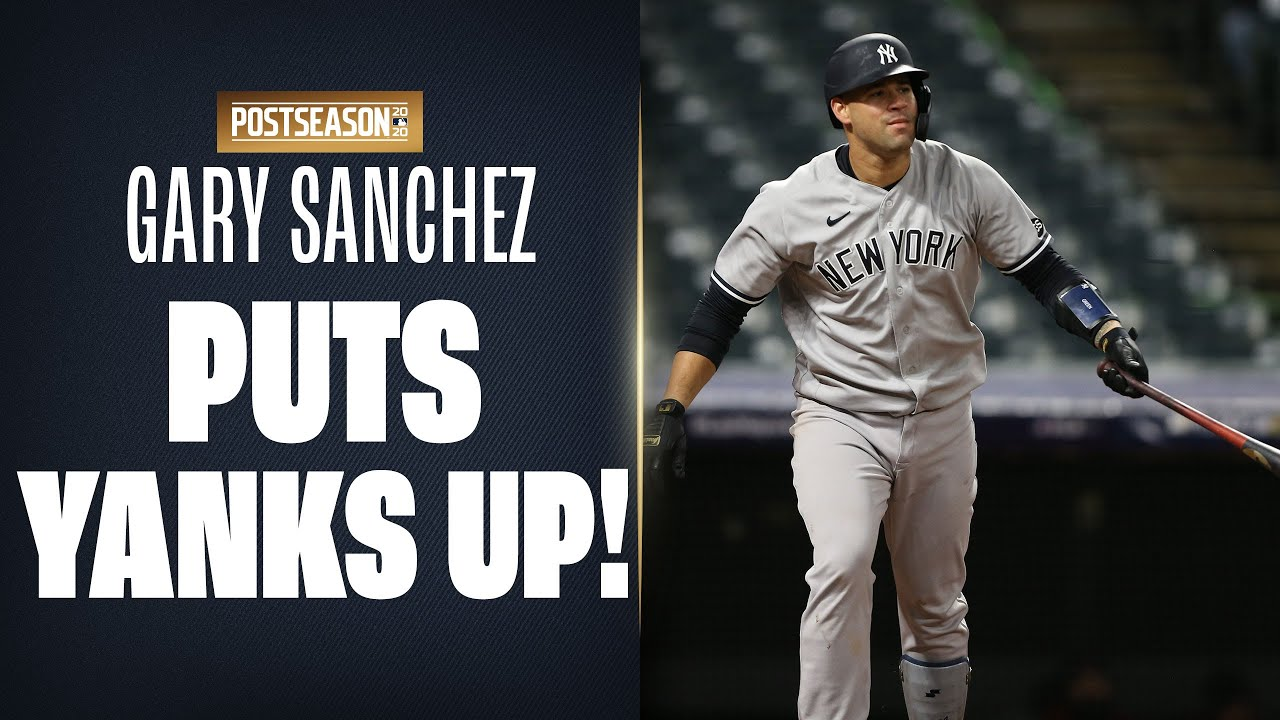 Gary Sanchez's HR BARELY gets out to put Yankees up on Indians | MLB Highlights