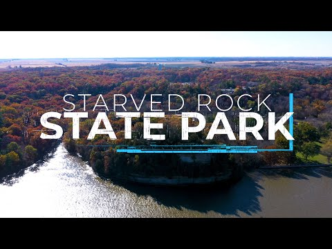 Starved Rock State Park, Illinois - In seasons | 4K drone, GoPro and time lapse