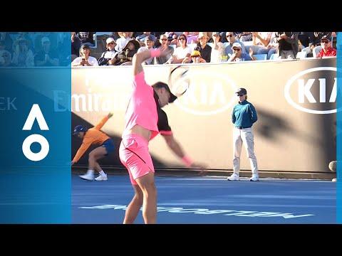 Epic racquet smash from Borna Coric  Australian Open 2018