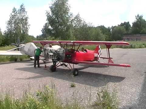 Первый пуск мотора на Акро-Спорт 2