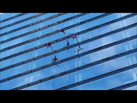 BANDALOOP vertical dance at Sydney's ANZ bank building