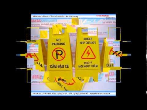 Biển báo chữ A bằng nhựa màu vàng – Cấm hút thuốc – No Smoking
