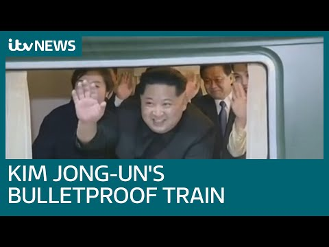 Inside Kim Jong-un's bulletproof train | ITV News