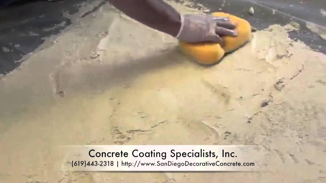 Limestone Coating Concrete Overlay San Diego, CA (619)443-2318 - YouTube