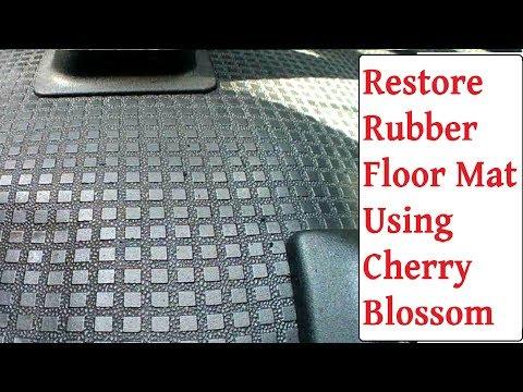 Restore Rubber Car / Van Mats Back To Black Cheap & Quick - Cherry Blossom Polish