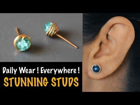 Stunning Studs | How to make Earstuds | Earring | Earpin | VHMJ