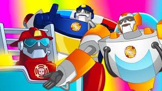 Роботы Трансформеры - мультики для детей. Боты Спасатели на страже порядка! Сборник мультфильмов