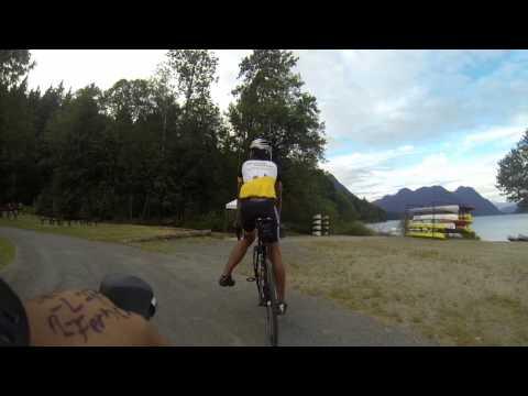 Road bike Alouette Lake 90km