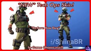 *NEW* Tech Ops Skin! *Before You Buy* (In-Game Showcase!) | Fortnite Battle Royale