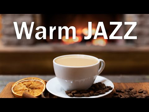 Warm Smooth JAZZ - Fireplace & Soft JAZZ  Music For Stress Relief - Chill Out Music
