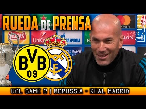 Borussia Dortmund - Real Madrid Rueda de prensa de ZIDANE Champions (25/09/2017)