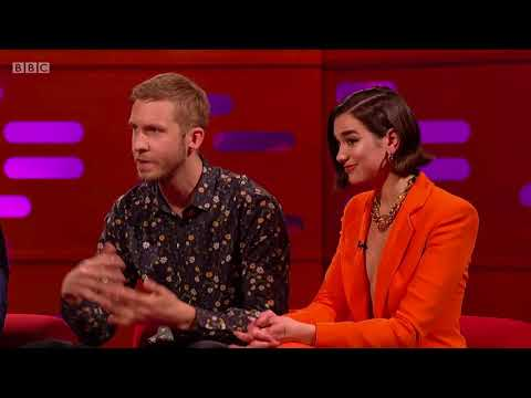 Calvin Harris and Dua Lipa on The Graham Norton Show. 20 Apr 2018