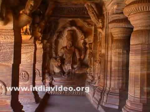 Jain cave among Badami caves in Karnataka