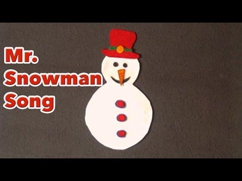 Winter songs for preschool - Mr Snowman song - Littlestorybug